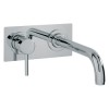 Milan 2 Hole Wall Mounted Basin Mixer