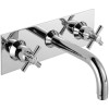 Faro 3 Hole Wall Mounted Basin Mixer