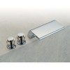 Sillouette Waterfall 3 Hole Bath Tap with Short Spout